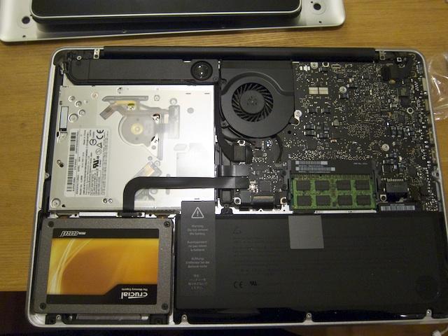 SSD換装後のMacBookPro